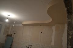 Оштукатуренный ГКЛ потолок